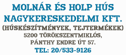 Molnár és Holp Hús Nagykereskedelmi Kft.